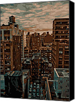 Rooftop View In New York Canvas Prints - Rooftop Color 16 Canvas Print by Scott Kelley
