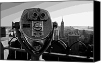 Heart Plaza Canvas Prints - Rooftop Rockefeller BW16 Canvas Print by Scott Kelley