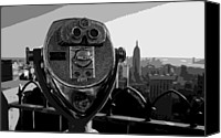 Heart Plaza Canvas Prints - Rooftop Rockefeller BW8 Canvas Print by Scott Kelley