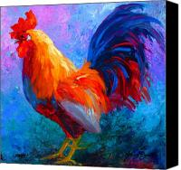 Chicken Canvas Prints - Rooster Bob Canvas Print by Marion Rose