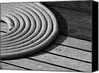 Rope Canvas Prints - Rope Coil Canvas Print by Tony Grider