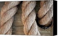 Rope Canvas Prints - Rope In A Hole Canvas Print by Dan Holm