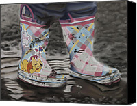 Storm Pastels Canvas Prints - Ros Boots Canvas Print by Kym Nippes