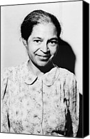Blacks Canvas Prints - Rosa Parks Was A Member Of The Naacp Canvas Print by Everett