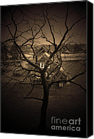 Haunted House Photo Canvas Prints - Rosabelle Believe Canvas Print by C E Dyer