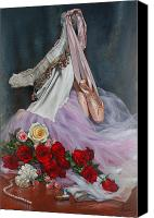 Cent Canvas Prints - Rose Adagio Canvas Print by Lyndall Bass