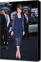 First-class Canvas Prints - Rose Byrne Wearing A Marc Jacobs Dress Canvas Print by Everett