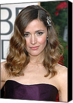 Wavy Hair Canvas Prints - Rose Byrne Wearing A Neil Lane Brooch Canvas Print by Everett