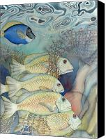 Fish Canvas Prints - Rose Island II Canvas Print by Liduine Bekman