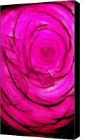Blue Rose Prints Canvas Prints - Rose Canvas Print by J Perez