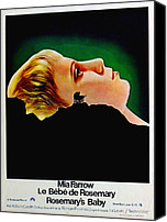 1960s Poster Art Canvas Prints - Rosemarys Baby, Aka Le Bebe De Canvas Print by Everett