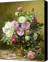 Arrangement Painting Canvas Prints - Roses  Canvas Print by Albert Williams