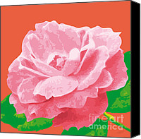 Rose Digital Art Canvas Prints - RoseSummer-C Canvas Print by Eakaluk Pataratrivijit