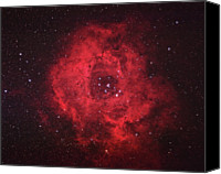 Astronomy Canvas Prints - Rosette Nebula Canvas Print by Pat Gaines