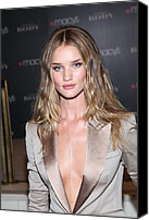 Herald Canvas Prints - Rosie Huntington-whitely At In-store Canvas Print by Everett