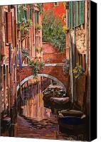 Venice Canvas Prints - Rosso Veneziano Canvas Print by Guido Borelli