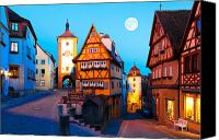 Bayern Canvas Prints - Rothenburg ob der Tauber 01 Canvas Print by Tom Uhlenberg