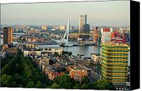 Crane Canvas Prints - Rotterdam Skyline Canvas Print by Dean Harte