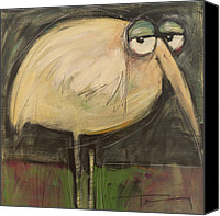 Lonesome Canvas Prints - Rotund Bird Canvas Print by Tim Nyberg