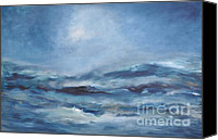 Storm Painting Canvas Prints - Rough Sea Canvas Print by Iris Lehnhardt