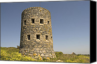 Reiseziele Canvas Prints - Rousse tower -napoleonic fortified tower  - Isle of Guenrsey Canvas Print by Urft Valley Art