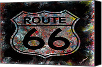 Louis Ferreira Art Canvas Prints - Route 66 Canvas Print by Louis Ferreira