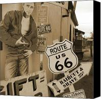 66 Canvas Prints - Route 66 Canvas Print by Mike McGlothlen