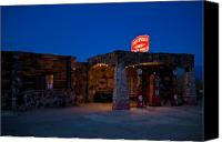 66 Canvas Prints - Route 66 Outpost Arizona Canvas Print by Steve Gadomski