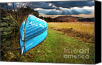 Stormy Photo Canvas Prints - Row Boats In Waiting Canvas Print by Meirion Matthias