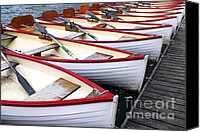 Pier Canvas Prints - Rowboats Canvas Print by Elena Elisseeva