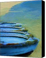 Rowboats Canvas Prints - Rowboats Canvas Print by Tom Griffithe