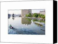 Rowers Canvas Prints - Rowers on the Milwaukee River Canvas Print by Geoff Strehlow