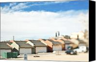 Duplex Canvas Prints - Rows of Duplex Garages Canvas Print by Eddy Joaquim