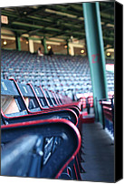 Mlb Photo Canvas Prints - Rows of Empty Field Box Seats at Fenway Boston Canvas Print by Loud Waterfall Photography Chelsea Sullens