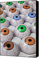 Stare Canvas Prints - Rows of eyeballs Canvas Print by Garry Gay