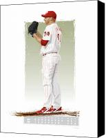 All Star Digital Art Canvas Prints - Roy Halladay Canvas Print by Scott Weigner