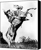 1940s Portraits Canvas Prints - Roy Rogers Riding Trigger, Ca. 1940s Canvas Print by Everett