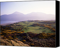 Golf Course Canvas Prints - Royal Co. Down Golf Course Overlooked Canvas Print by Chris Hill