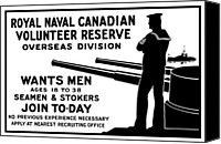 One Mixed Media Canvas Prints - Royal Naval Canadian Volunteer Reserve Canvas Print by War Is Hell Store