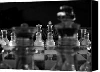 Chess Game Canvas Prints - Royal Perspective  Canvas Print by David Paul Murray