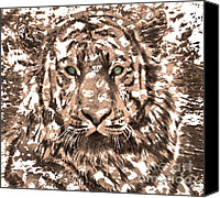 Originals Canvas Prints - Royal Tiger in Digital Art Canvas Print by Mario  Perez