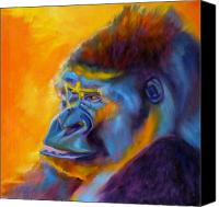 Gorilla Painting Canvas Prints - Royalty Canvas Print by Kaytee Esser
