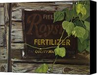 Egg Tempera Canvas Prints - Royston Fertilizer Sign Canvas Print by Peter Muzyka
