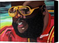 Hip-hop Canvas Prints - Rozay Canvas Print by Chelsea VanHook