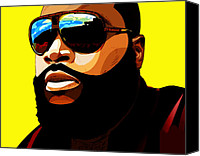 Maybach Music Canvas Prints - Rozay Canvas Print by The DigArtisT