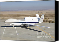 Global Hawk Canvas Prints - Rq-4 Global Hawk Aircraft Canvas Print by Photo Researchers