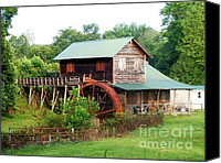 Old Things Canvas Prints - Rt 221 Gristmill Canvas Print by Pauline Ross
