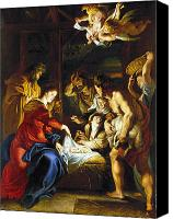 Virgin Canvas Prints - RUBENS: ADORATION, c1608 Canvas Print by Granger