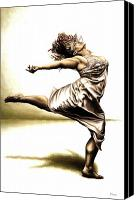 Dancer Canvas Prints - Rubinesque Dancer Canvas Print by Richard Young