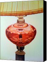 Photo-realism Canvas Prints - Ruby Glass Canvas Print by Richard Kilroy